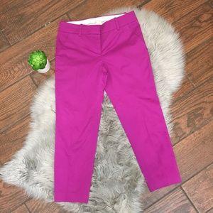 (J. Crew) Pink Cafe Capri Pant Career style 62782